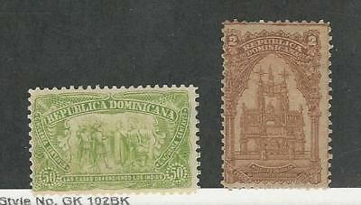 Dominican Republic, Postage Stamp, #106, 108 Mint Hinged, 1899, JFZ