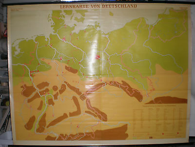 Schulwandkarte Deutschland 600T Gre1937 Germany 208x162cm ~1965 vintage map card