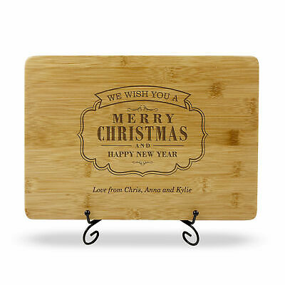 Personalised Christmas Gift Engraved Chopping Board