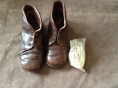 antique children,s leather boots