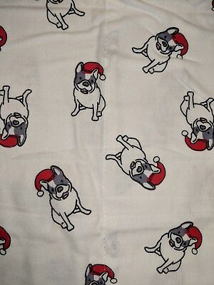 Boston Terrier Holiday 100% Cotton Turkish Flannel Standard Pillow Cases Set/2!