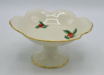 Pickard China Porcelain Holly Pattern Pedestal Candy Dish/Compote