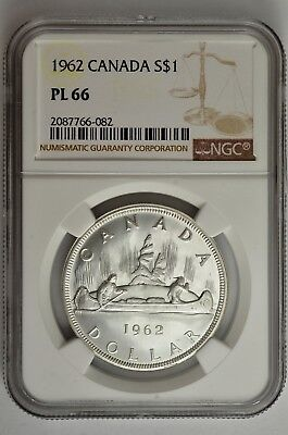 1962 S$1 Canada Silver Dollar NGC PL 66