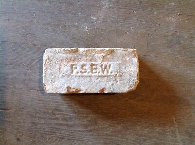 Antique Brick Stamped  *** P. S. B. W. ******