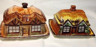 2 X Vintage PRICE KENSINGTON 'COTTAGE WARE' BUTTER/CHEESE Dishs