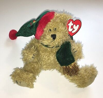 TY Beanie Babies Christmas Bear Spruce NEW The Attic Collection 1993 Jointed NWT