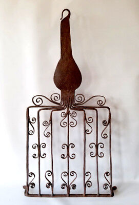 MUSEUM QUALITY Antique BROILER Gridiron Hand Forged Open Hearth Cooking Tool