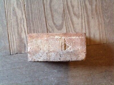 Antique Brick Stamped With Triangle  **** Unique