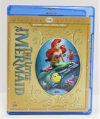 The Little Mermaid ~Two-Disc Diamond Edition~ Blu-ray / DVD~ FREE SHIPPING