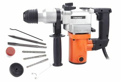 850W Rotary Hammer Drill Powerful Tool Chisel Sds Bits Set Kit 230V & Blowcase