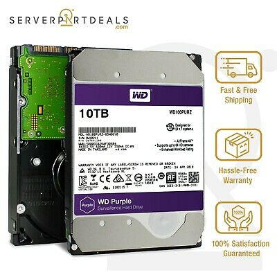 "WD Purple | WD100PURZ | 10TB 5.4K SATA 6Gb/s 256MB 3.5"" Enterprise HDD"