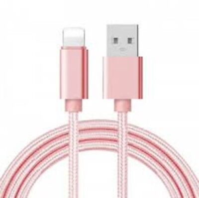 2M Extra Long USB Cable for Apple iPhone 6S 7 8 Plus X 5 Charger Breaded Lead