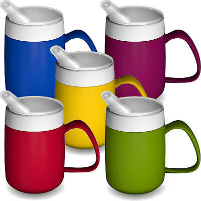 Unbreakable Mug Cup Beaker Non Spill Parkinsons Disability Mobility Aid Elderly