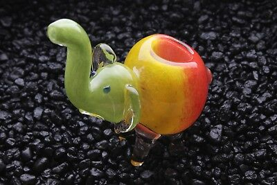 "4.5"" Elephant Different Color TOBACCO Smoking Pipe Herb bowl Glass Hand Pipes"