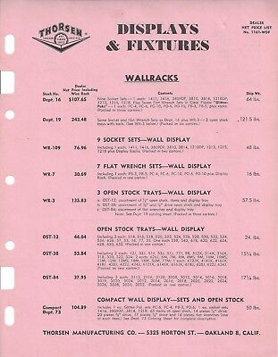 (4) Thorsen Manufacturing Co. Vintage Advertising Paper & Price Lists