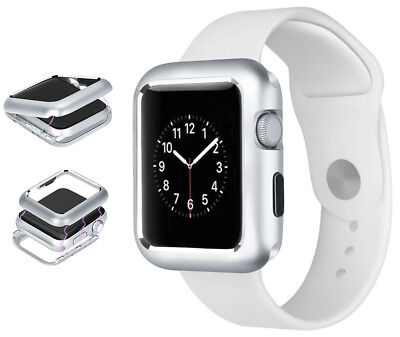 Silver Magnetic Snap Case Aluminum Hard Cover for Apple Watch (Series 4, 44mm)