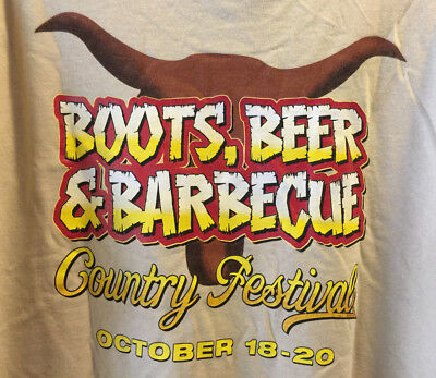 Edgewater Colorado Belle casino Boots Beer & BBQ Country Festival Tee T-Shirt XL