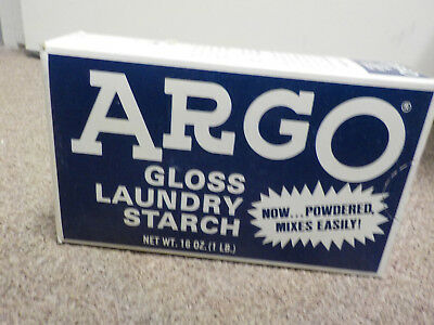 Vinage Argo Gloss Laundry Starch Unopened Box, 1 lb. or 16 oz.