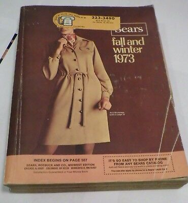 Vintage Sears Catalog 1973 Fall and Winter 1122 Pages Nice Condition