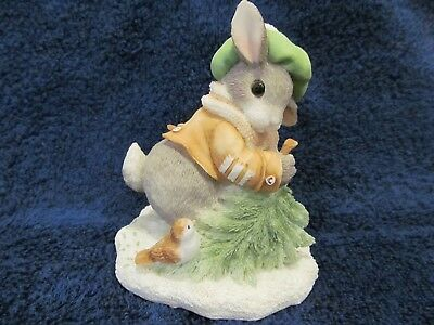 "ENESCO MY BLUSHING BUNNIES ""WINTERTIME BLESSINGS"" 178616 Winter Tree"
