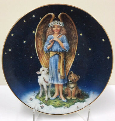 Vintage ANGELIC INNOCENCE Hamilton Renaissance Angels Plate Collection 0311A