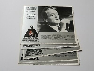 1980 THE KIDNAPPING OF THE PRESIDENT Lobby Card Set William Shatner THRILLER