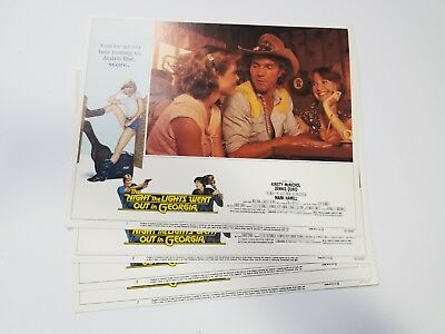 1981 THE NIGHT THE LIGHTS WENT OUT IN GEORGIA Lobby Card Set 11x14 COUNTRY MUSIC