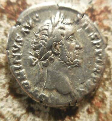 VF+: Antoninus Pius Denarius, Fortuna! Ex Heritage Auction of Old Estate: