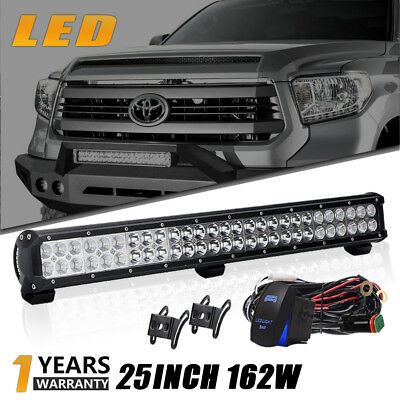 """162W 25""""inch Led Light Bar Spot &flood Driving Lamp Fit Offroad Boat 4Wd Lamp"""