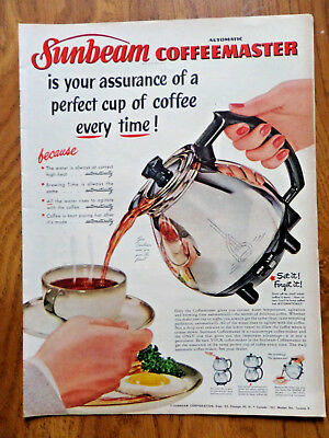 1952 Sunbeam Ad Automatic Coffeemaster