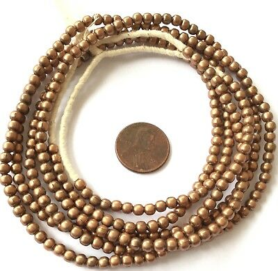 169 Strand Of African Ethiopian Handmade antique Copper Trade Beads