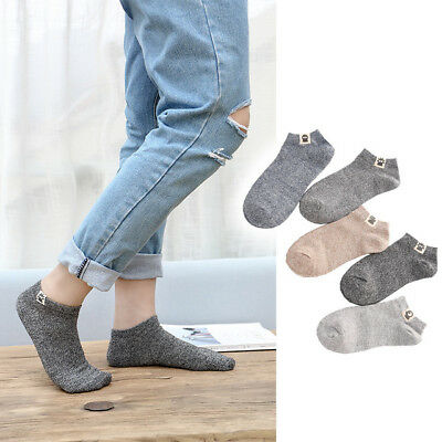 Men Socks Pack Ankle Casual Cotton 5 Pairs Sport Fashion Neutral Women Low Cut