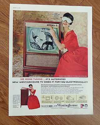 1958 Westinghouse TV Television Ad  Model 21K226 Regency Automatic Tunning