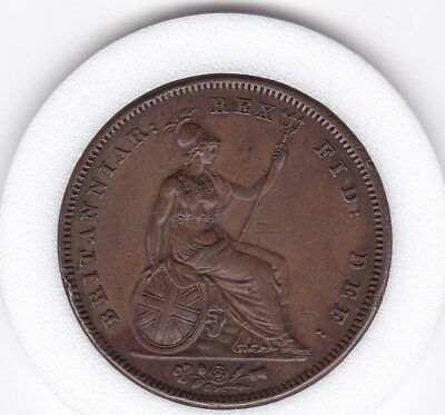 Sharp  1831    King    William   IV   Large  Penny  -  Copper  Coin