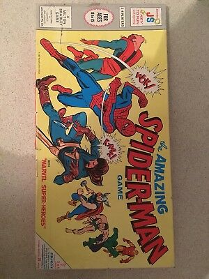 toy Vintage Board Game Complete - The Amazing Spiderman - 1967 marvel