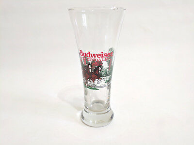 Vintage Limited Edition Christmas 1989 Budweiser Clydesdale Beer Pilsner Glass