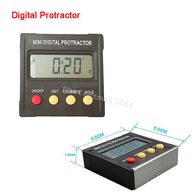 Digital Protractor Inclinometer Electronic Level Box Magnetic Base Measuring