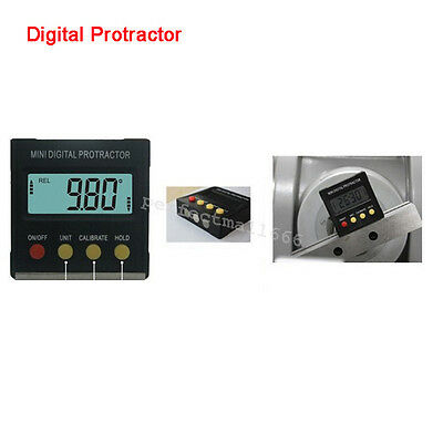 Mini Digital Protractor Inclinometer Angle Meter 360°Slope Angle Upright Magnet