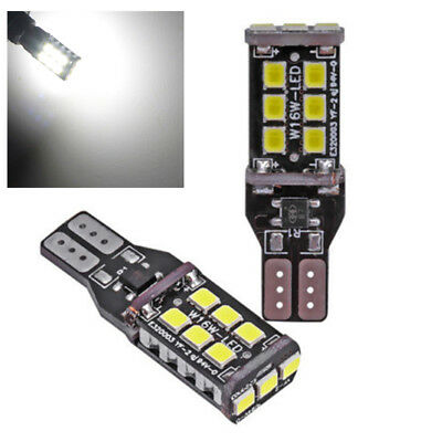 DC 12V 2pcs Car CANBUS W16W T15 15SMD 2835 6000K LED Backup Reverse Light Lamp