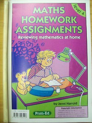 Maths Homework Assignments: Level 4 by Harrold, Jenni Paperback Book The Fast