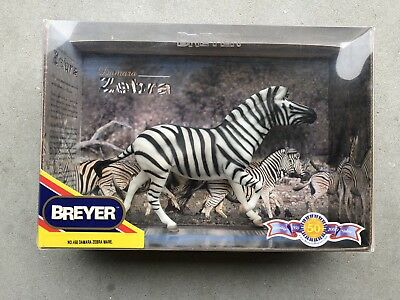 New NIB Breyer Horse #468 Damara Zebra Mare Retired Wildlife Wild Animal