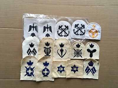 vintage canadian navy patches lot 1