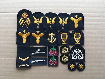 vintage canadian navy patches lot 3