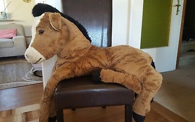 Steiff Stofftier Pony liegend, 110 cm, Super Molly Pony, liegend (EAN # 0366/99)