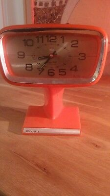 Hain Bell Clock 1960's-70's overwinded icon colour