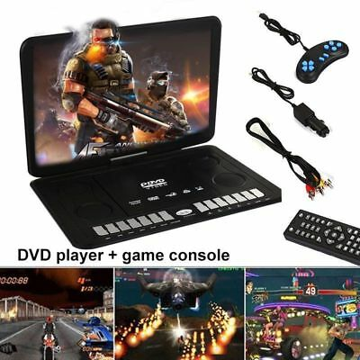 """13.9"""" DVD Game Player 270° Swivel Screen 3D SD In Car Charge Kids Gift Portable"""