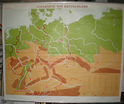Schulwandkarte Deutschland G1937 ~1966 Germany 209x170cm vintage wall chart map