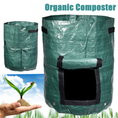 Compost Bin Clean for Home Garden Waste Composter Grow Bag Eco Friendly Tool ♫