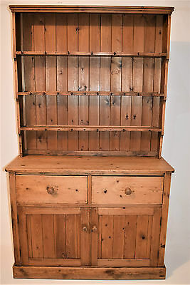 A 19th Century Antique Victorian  Pine Dresser Cabinet