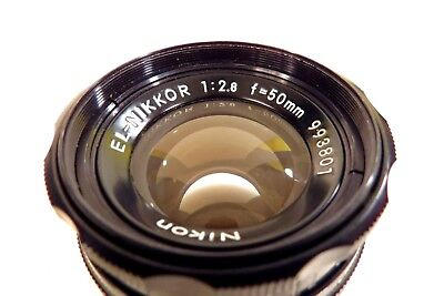 EL NIKKOR NIKON f2.8 50mm ENLARGING LENS EXC+++++